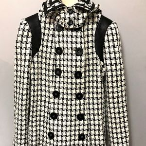 Industry Wool and Silk Houndstooth Jacket